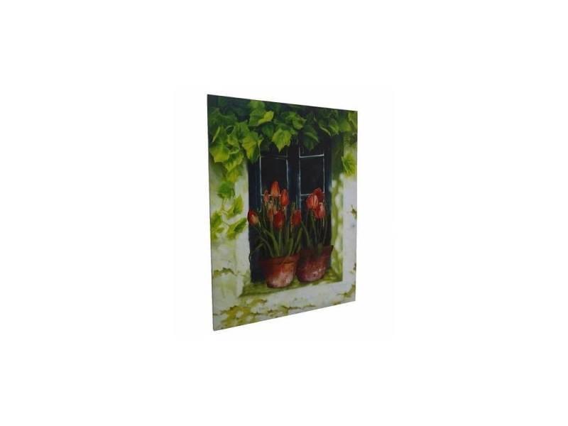 Grand Tableau Cadre Mural En Bois Avec Impression Sur Toile Motifs