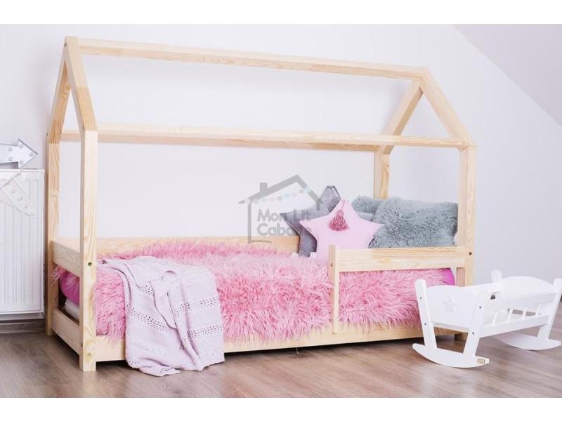 lit cabane g 90x190 barri res vente de monlitcabane. Black Bedroom Furniture Sets. Home Design Ideas