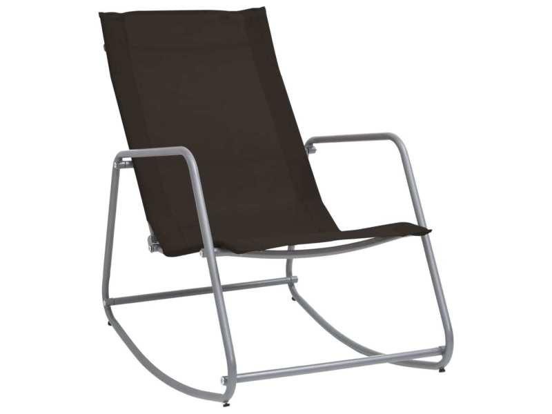 Vidaxl chaise à bascule de jardin noir 95x54x85 cm textilène