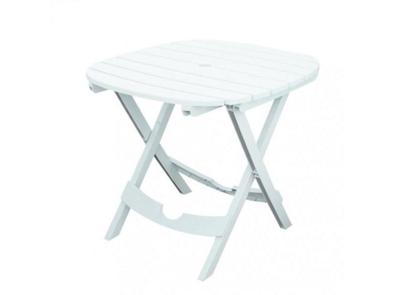 Table de jardin blanche - pliable - lot sans chaises - lot : 1 table -  blanc ...