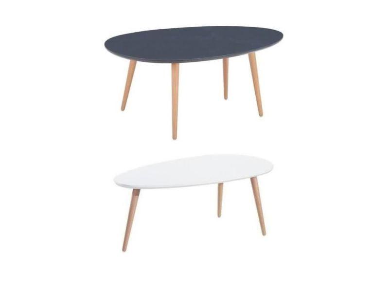Table et blanc de basses basse tables gris lot stone 2 w80nOPk