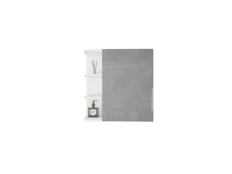 Armoire de toilette ml-design blanche, 62x64x21 cm, en panneau de particules mdf 490001597