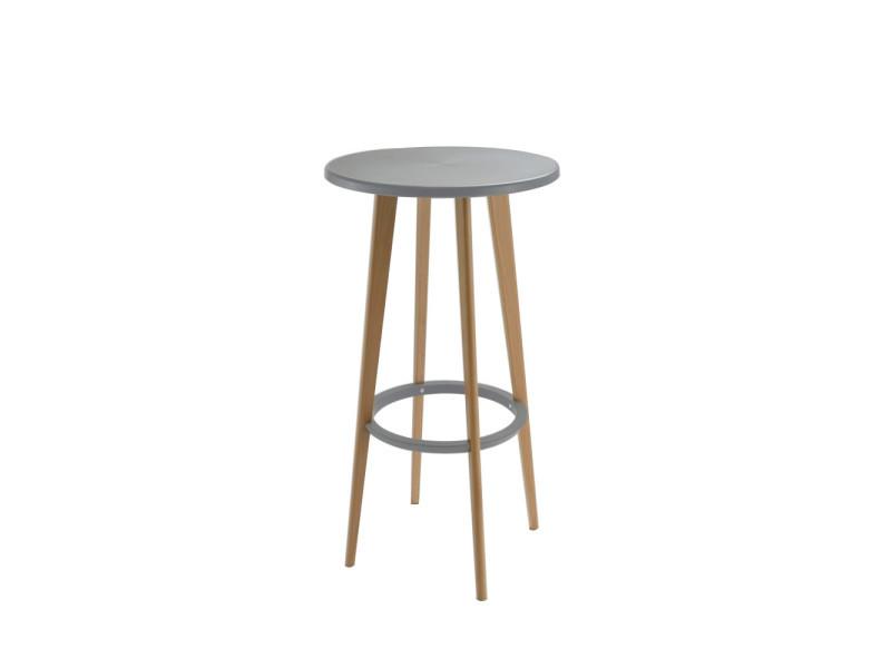 Harry S Table De Bar Ronde Design Couleur Gris Pw 009 Grey