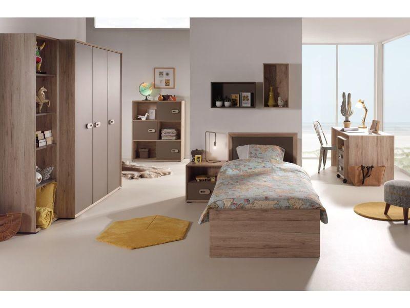Ensemble complet 8 pièces pour chambre moderne avec lit 90x200 cm ...