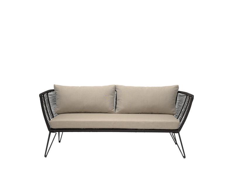Seasing - salon de jardin en résine - couleur - noir 50255217 - Vente ...