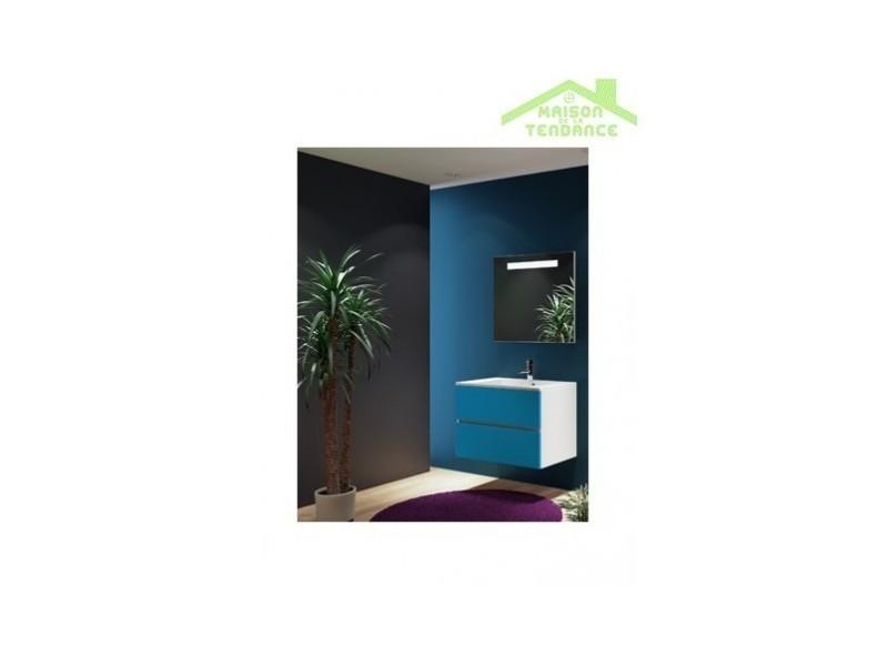 Ensemble meuble & lavabo riho cambio sentito set 07 80x48x h 57 cm - bois laqué brillant FSI080Z01DDDS07