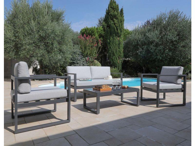 Salon de jardin en aluminium dina 4 personnes - Vente de ...