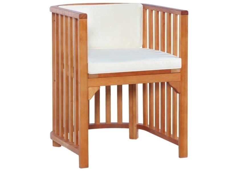 Vidaxl mobilier de jardin 7 pcs bois d\'eucalyptus massif ...