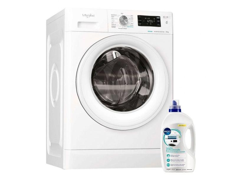 Lave-linge frontal 8kg a+++ 1400trs/min freshcare machine à laver hublot