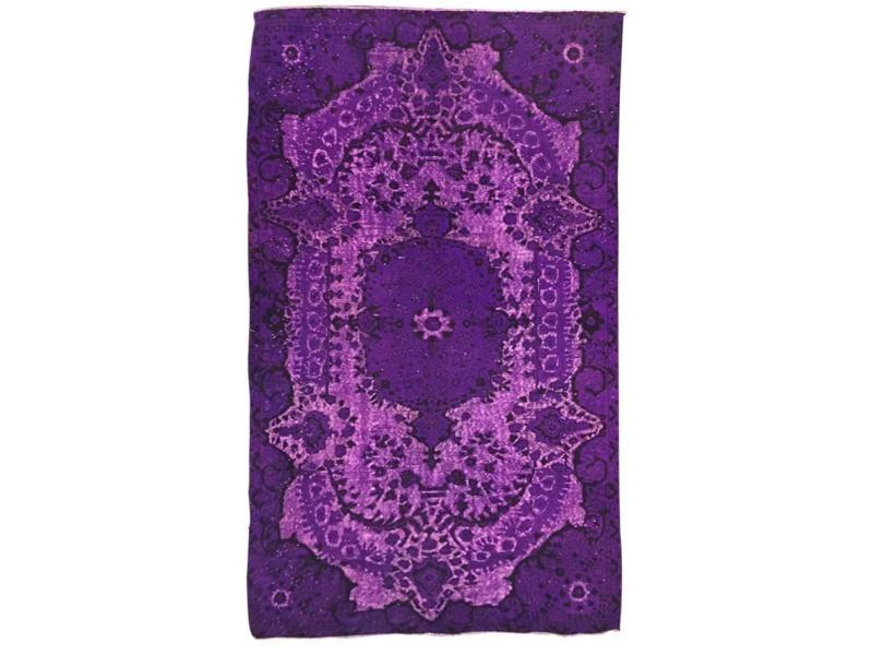 Tapis grand dimensions unique oriental vintage violet 166 x 286 cm ...