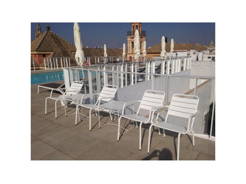 Visalia - fauteuil lounger de jardin - couleur - taupe 8023 ...