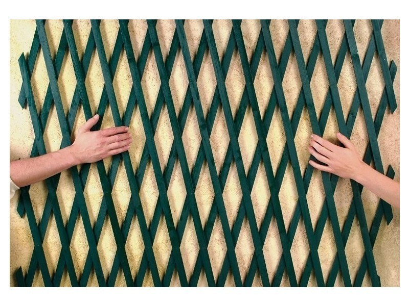 Intermas - treillis extensible en bois - vert 1 x 2 m trelliwood 170231