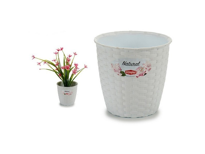 Jardinage moderne pot blanc