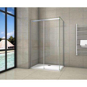 80x80x190cm cabine de douche /à charni/ère porte de douche paroi de douche acc/ès dangle verre anticalcaire