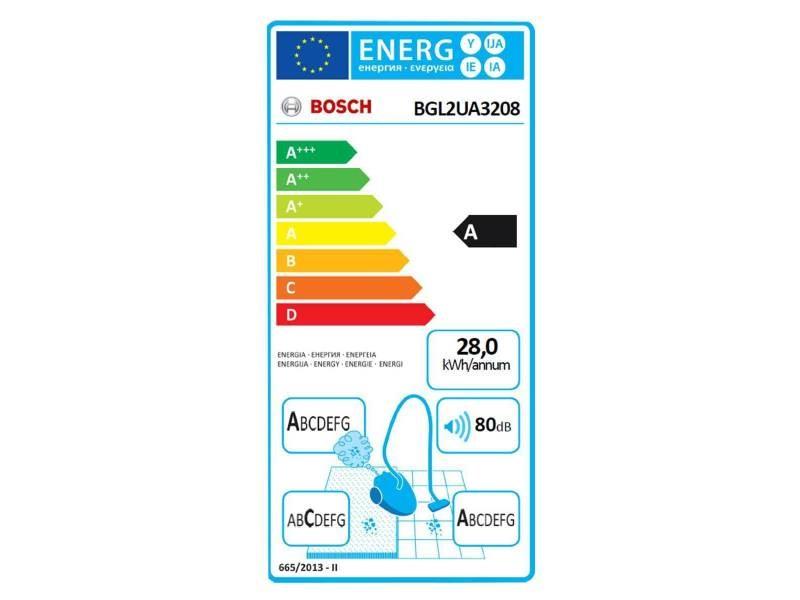 Bosch aspirateur bag & bagless brosse sols durs bleu bgl2ua3208 4242005040094