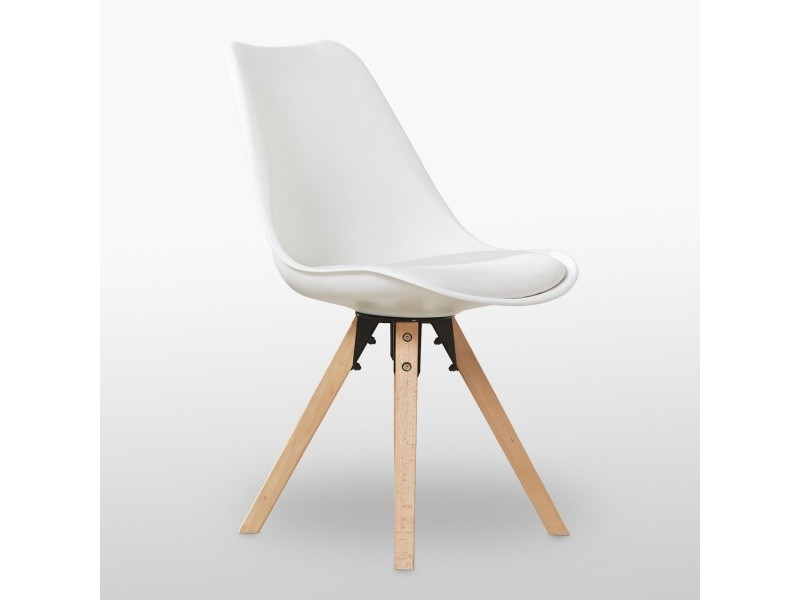 Chaise scandinave blanche - sofia