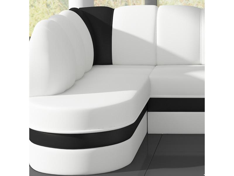 Convertible Et 2 De Blanc Panoramique Vente Noir Debora Canapé JcTl1FK