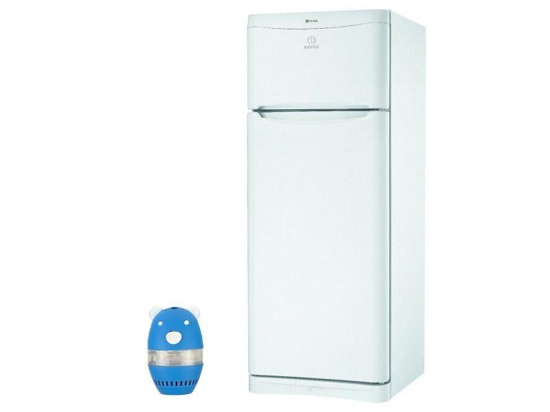 indesit refrigerateur frigo double porte blanc 414l a. Black Bedroom Furniture Sets. Home Design Ideas