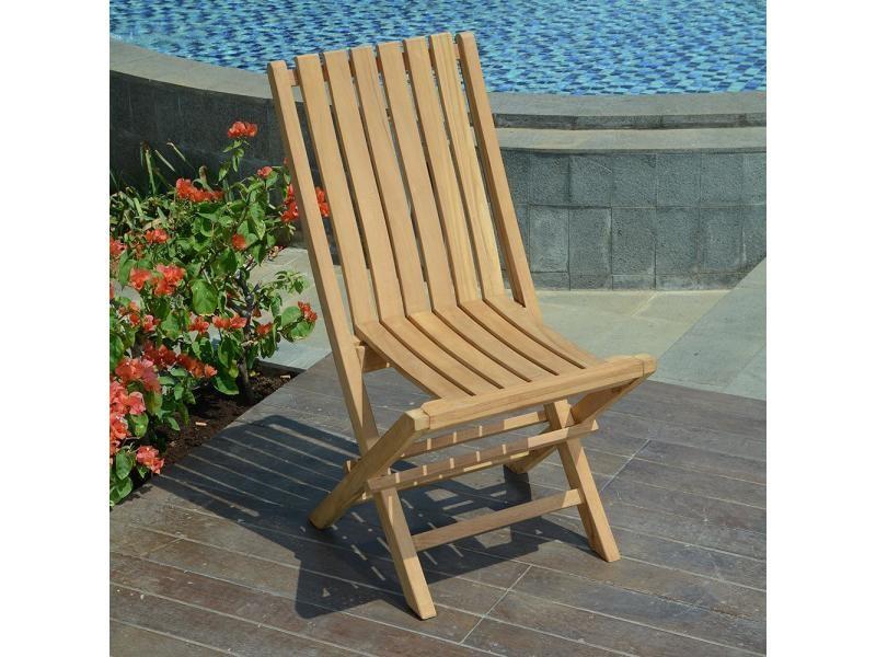 Chaises de jardin pliantes en teck karimun (lot de 2) Teck massif de qualité Ecograde©
