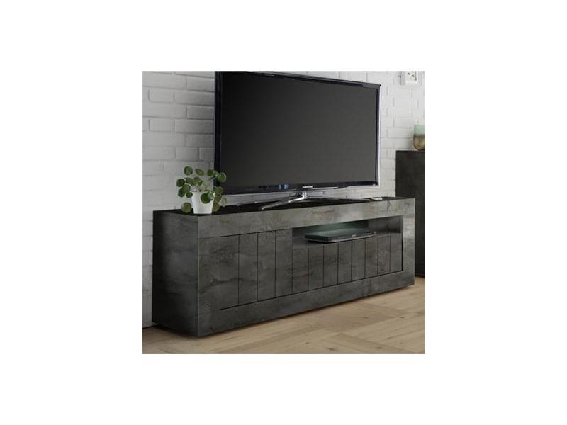 nouveau concept 29fd1 ad03e Banc tv gris anthracite moderne mabel - Vente de KASALINEA ...