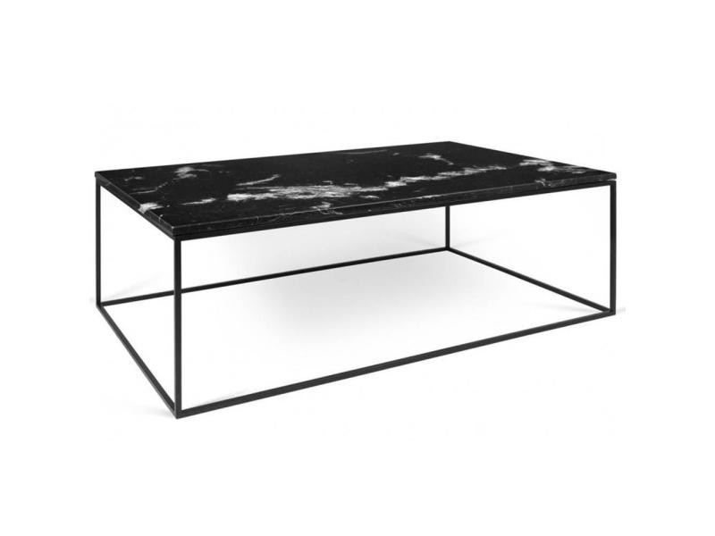 Table Basse Rectangulaire Gleam 120 Plateau En Marbre Noir