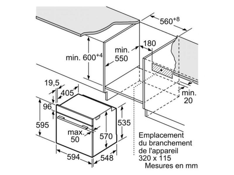Bosch Four Pyrolyse Encastrable Inox 71l Multifonction