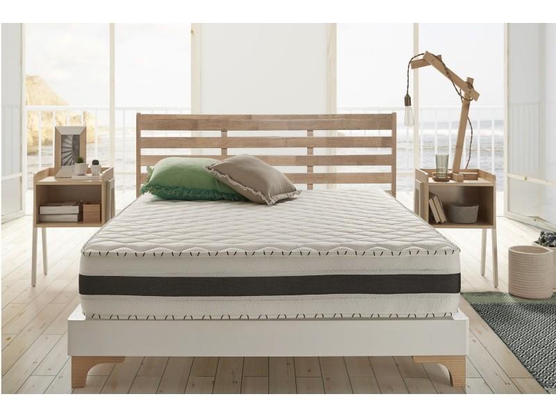 matelas 7 zones aloe memory 70x190 cm mousse hr blue latex literie confort syst me air. Black Bedroom Furniture Sets. Home Design Ideas