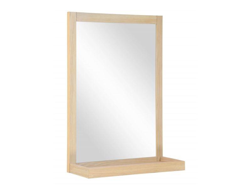 Miroir salle de bain en bois l60 x h70 cm enio - Vente de ...