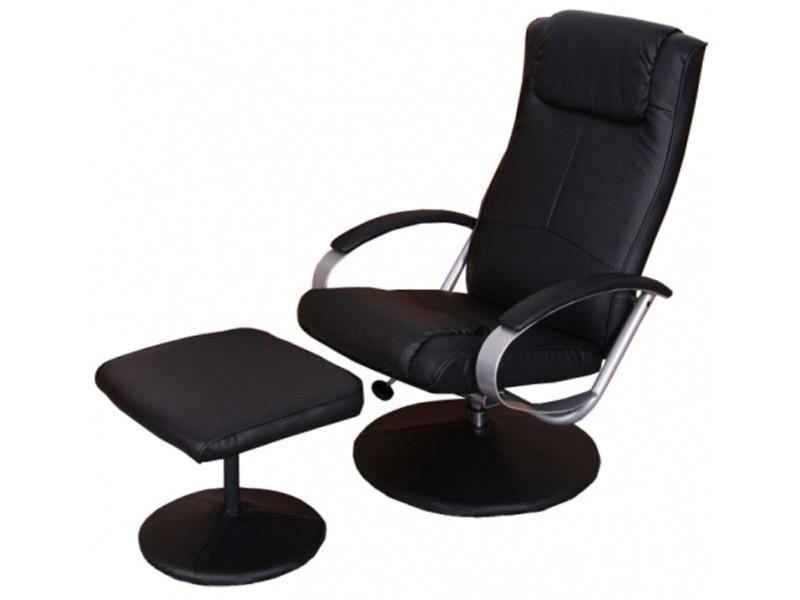 bas prix 118b8 db843 Fauteuil relax longue inclinable avec repose-pieds, coloris ...