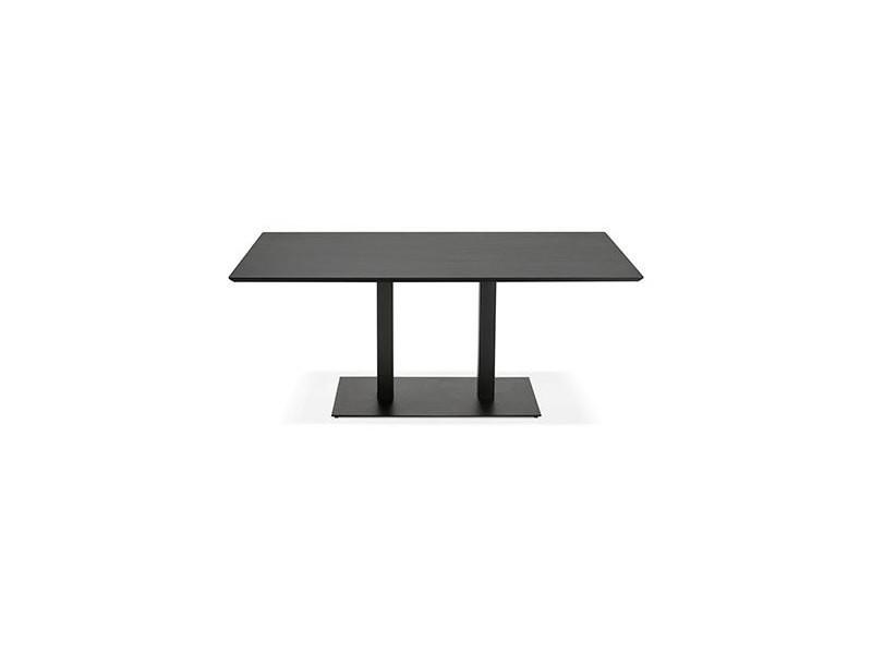 manger Table noir métal design et cm en bois à 180 lotus Tlc1JKF3
