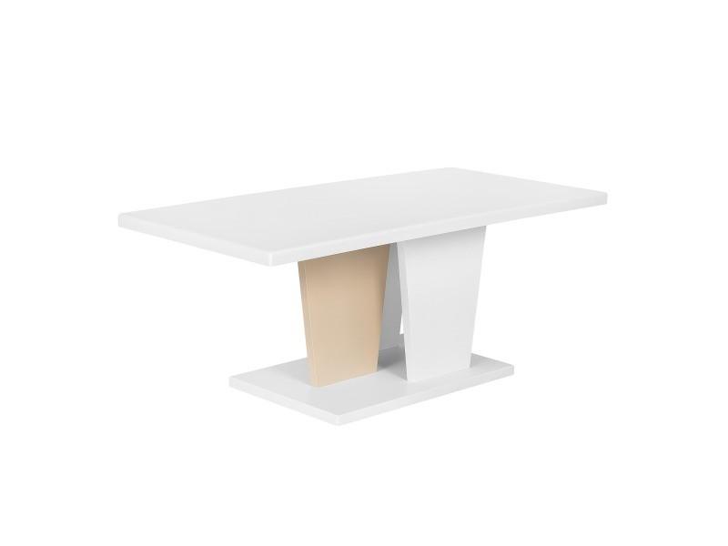 Table basse bois clair et blanc dover 163212