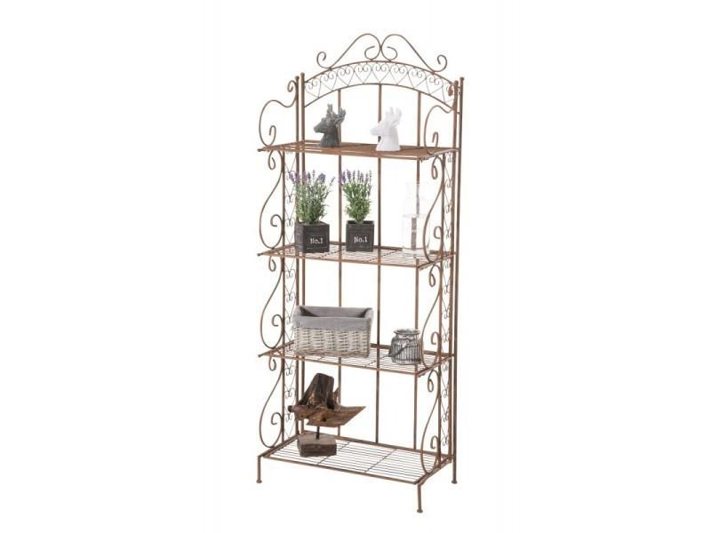 Etagère pour plantes 4 niveaux en fer 153x61x33 cm marron vieilli ...