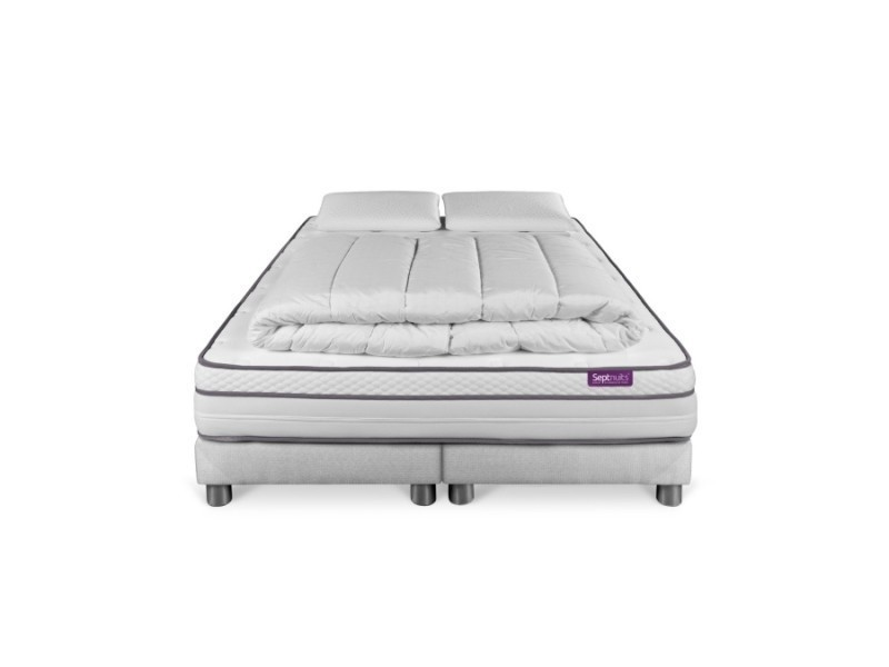 Pack Matelas 180x200 Double Sommiers 90x200 Memo Luxe