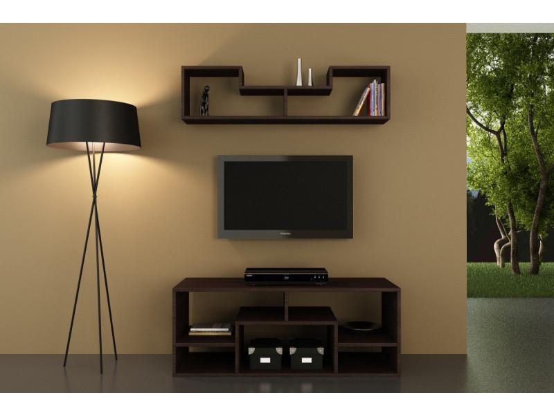 Meuble tv design orion motif bois wenge