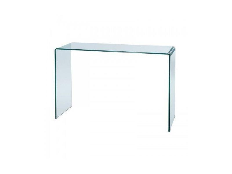 Console design en verre moulé infinity 120 cm