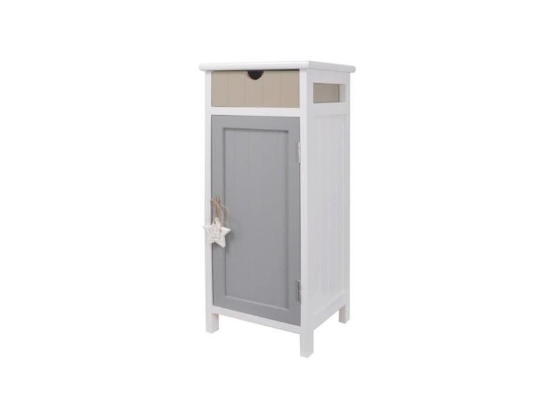Star meuble de rangement salle de bain en bois paulownia et mdf l 28 ...