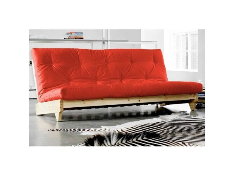 Banquette Lit Futon Rouge Fresh 3 Places Convertible Couchage 140