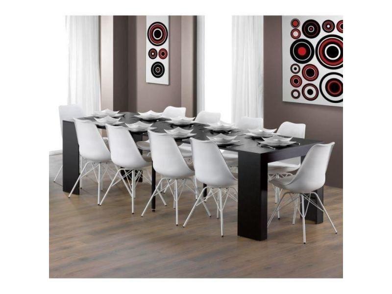 Table console - console extensible goomy console extensible style contemporain - noir mat - l 50 a 270 cm