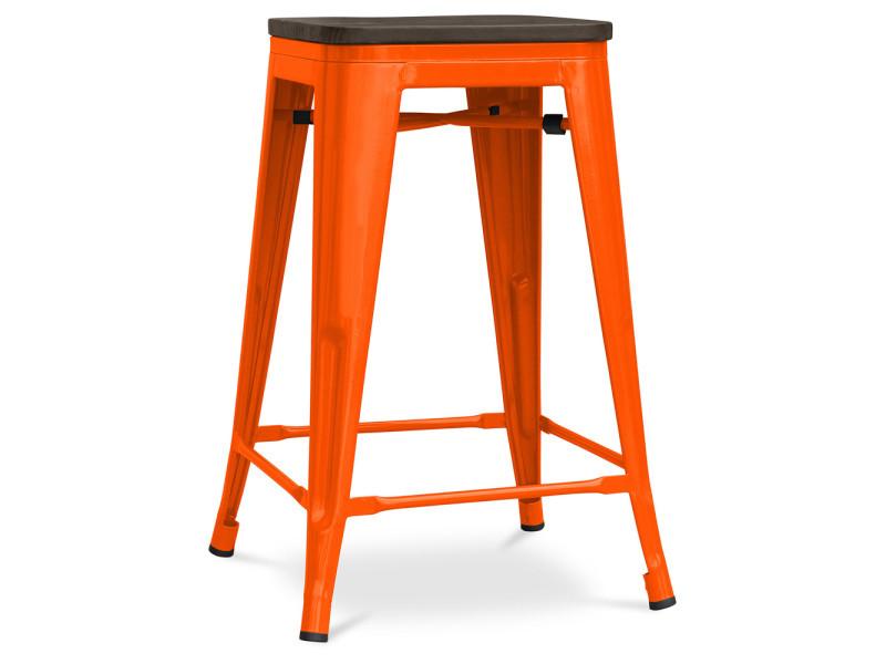 Métal Bois Tolix Xavier Tabouret Pauchard Assise Style En Orange 60cm dhsQrCt