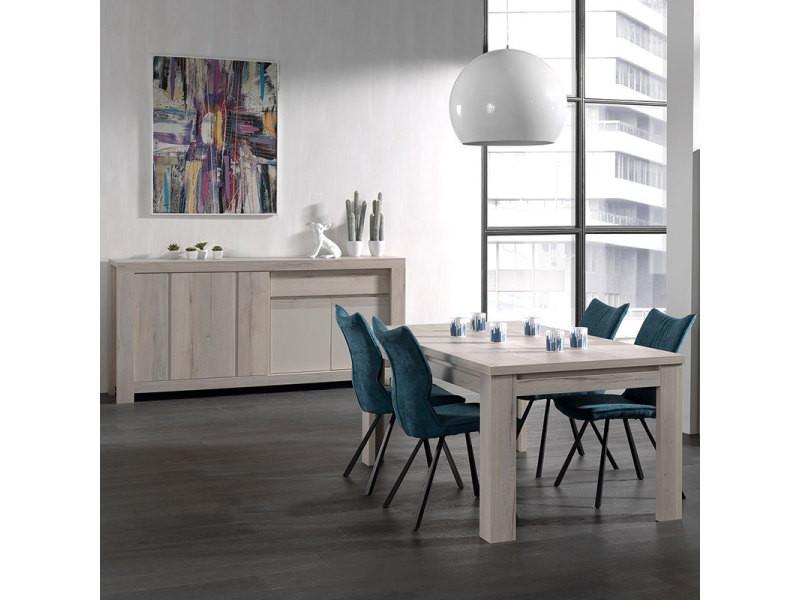 Salle à manger moderne couleur chêne clair et beige louise ...