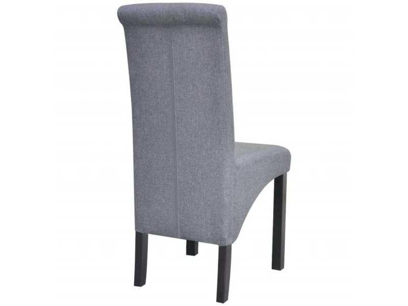 Vidaxl chaise de salle à manger 4 pcs tissu gris foncé