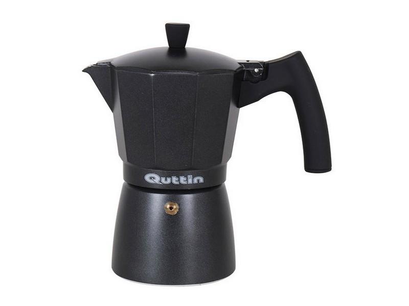 Cafetières joli capacité 9 tasses cafetière italienne quttin darkblack induction noir