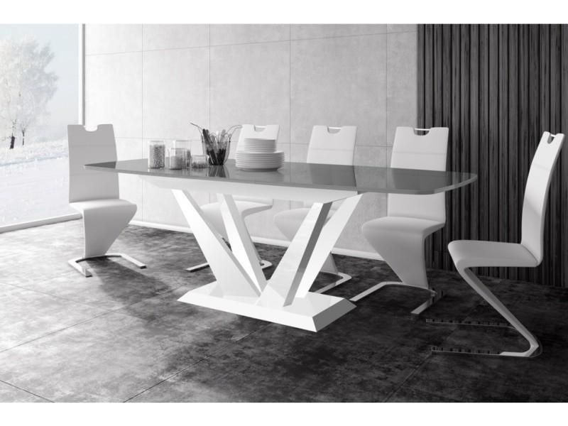 Table a manger design extensible 160÷256 cm x p : 89 cm x h: 75 cm ...