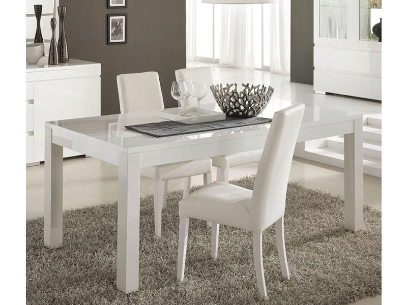 Table à Manger Blanc Laqué Design Flavie