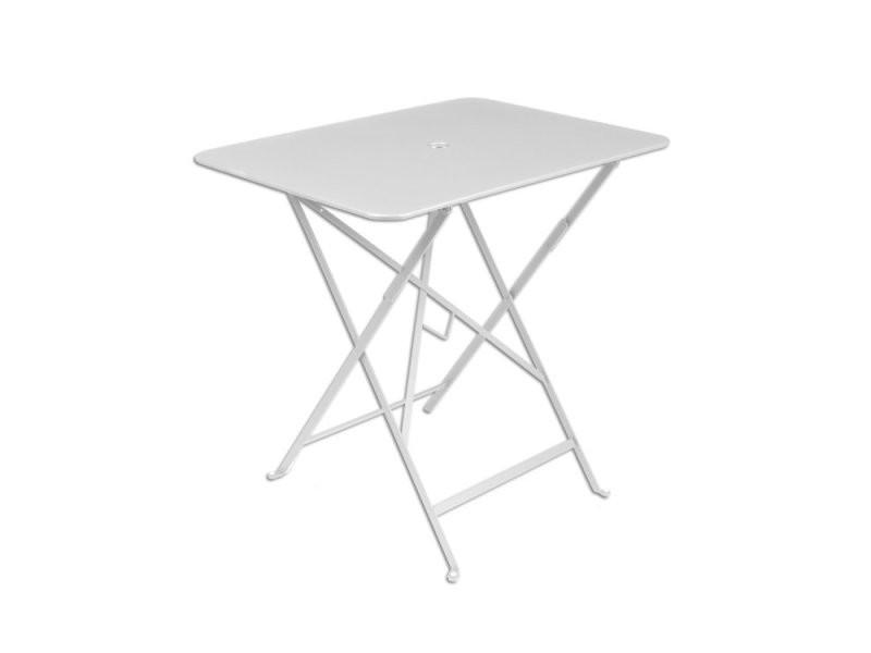 Table de jardin rectangulaire pliante acier laqué bistro - Vente de ...