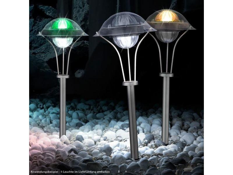 Lampadaire de jardin - lampe de jardin lampe solaire inox ...