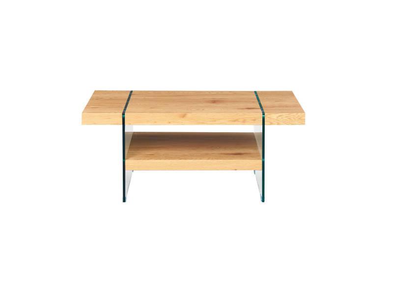 Table Basse Table Salon Pieds En Verre Securit Et Plateau En
