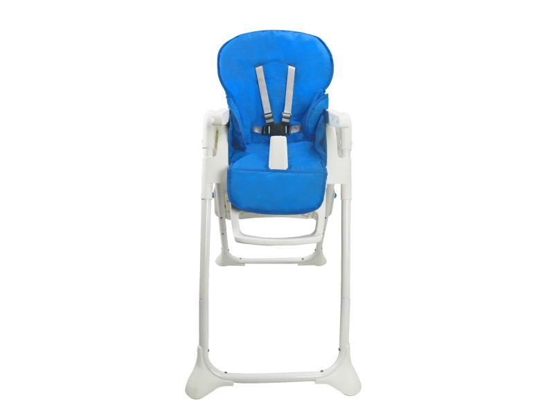 Chaise haute pour bébé, chaise pliante pour bébé, bleu