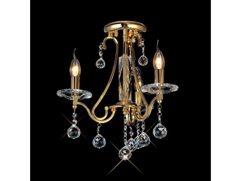 Plafonnier bianco 3 ampoules dorécristal Vente de