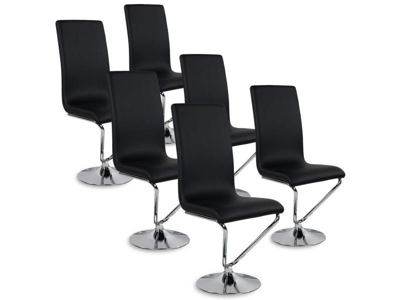 Noir Lot Chaises Colami Conforama Vente 4ar5lj 6 Chaise De wZTOPXuik